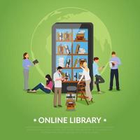 bibliotek platt komposition