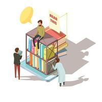 isometrische E-Learning-Bücher