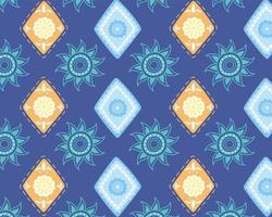 ethnische handgemacht. Blumentextur Mode Hintergrund vektor