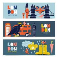 England London Banner vektor