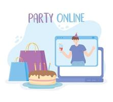 online-fest. man i virtuell firande