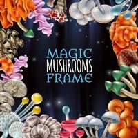 magischer Pilzrahmen vektor