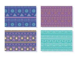etniska handgjorda. samling av tribal bohemiska mönster