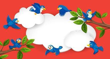 leeres Banner mit Vogelthema vektor