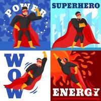 superhjälte med 4 vektor