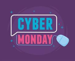 Cyber Montag. Verkauf Marketing virtuelle Werbung