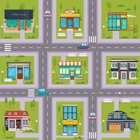 förort gatukafé sömlös karta