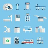 orthogonale Symbole des Krankenhauses vektor