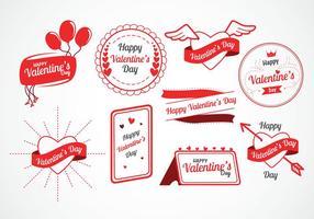 Valentinstag Vektor-Labels vektor