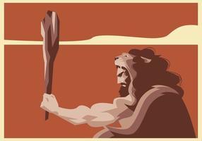 Herkules mit Löwen Umhang Vektor