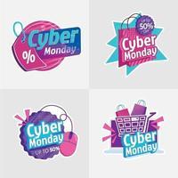 cyber måndag klistermärke med 3d-effekt