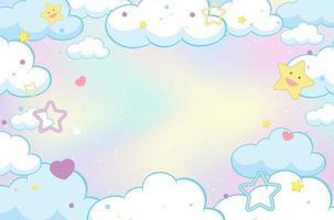 magischer Wolkenpastellhimmelhintergrund