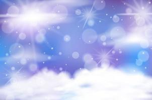 blå, lila bokeh himmel bakgrund vektor