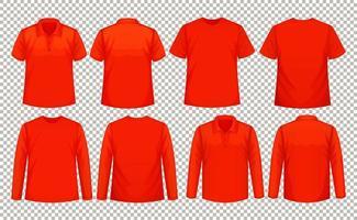 Set von verschiedenen Arten von Hemd in der gleichen Farbe vektor