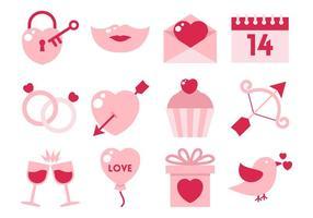 Freie Wohnung Valentine Element Vektor