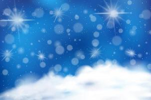 blå moln himmel bokeh bakgrund vektor