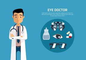 Augenarzt-Karikatur-Vektor