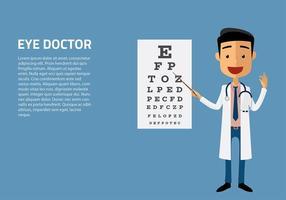 Augenarzt-Charakter Vektor