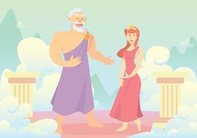 Hercules 'Eltern-Vektor Hintergrund