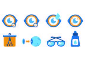 Set blaue Augenarzt-Icons