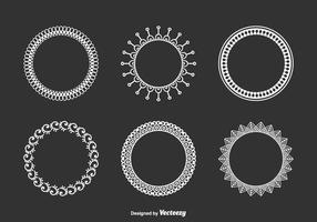 Dekorative Funky Frames Vektor-Set vektor