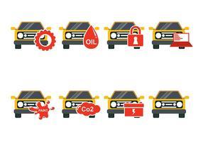Yellow Car Auto Body Icon Vektoren