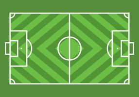 Grön Enkel fotboll Ground vektor