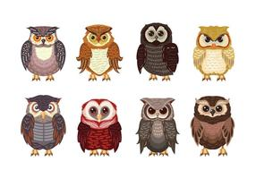 Owl eller Buho tema Collection vektor