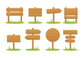 Blank Madeira Wegweiser aus Holz Vektor