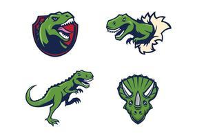 Freie Dinosaurier-Maskottchen-Vektor
