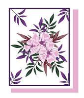 Blumenarrangements für Grußkarte