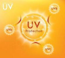 uv-skyddsbanner vektor