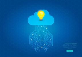Tecnologia Cloud Computing-Idee Template vektor