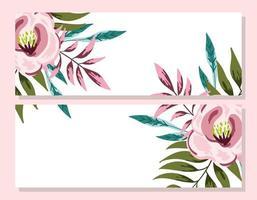 dekorative Einladungskarte der Hochzeitsverzierungsblume vektor