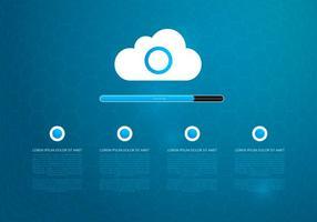 Tecnologia Cloud Computing-Hintergrund-Schablone vektor