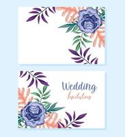 Blumen dekorative Grußkarte oder Einladung der Hochzeitsverzierung vektor