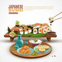 japansk sushi bakgrund