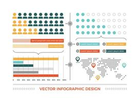 Färgad vektor Infographic Elements