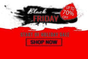 Start des schwarzen Freitag-Verkaufsplakats