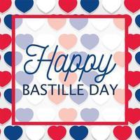 Herzhintergrund des glücklichen Bastille-Tages