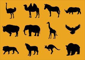 Silhouetten der Tiere vektor
