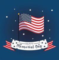 flagga och band för minnesdagens tema vektor