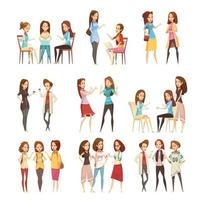 Gruppe junger Frauen reden