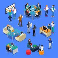 Coworking People isometrisch