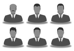 Affärs Man Icon Set vektor