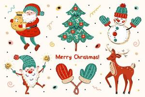 jultomten, julgran, snögubbe, älva, vantar, hjortuppsättning