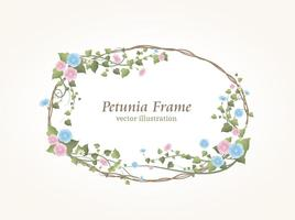 Blommig Petunia Gräns vektor