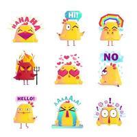 niedlicher Zeichentrickfilm Huhn Zeichensatz