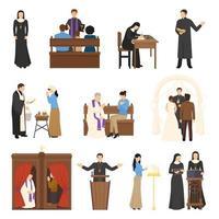 Satz religiöser Charaktere vektor