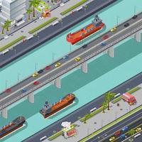 isometrische Draufsicht einer Stadt